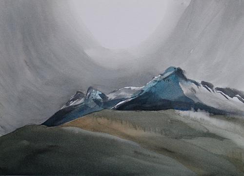 Tantalus Range above Squamish BC, Toni Onley, 1999