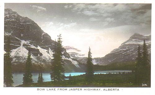 Bow Lake from Jasper Highway, Alberta