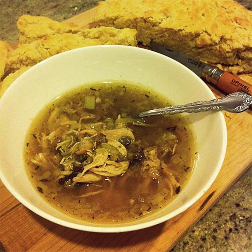 Cock-a-leekie soup & bannock, Jason Landry, 2012