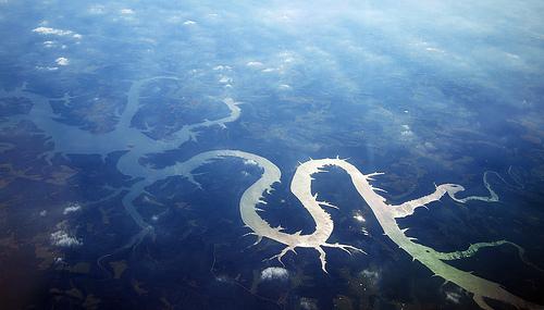 Aerial view of Lake of the Ozarks, John Picken, 2010